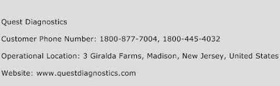 Quest Diagnostics Phone Number Customer Service