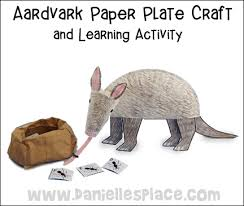 Aardvark Paper Craft And Learning Activity