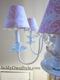 Pink Damask Scrapbook Paper Chandelier Shade Covers