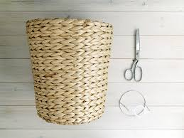 DIY Woven Basket Lampshade