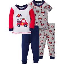 Kids Fire Truck Pajamas Sets