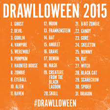 Halloween Candy List by Drawlloween Billy Odell