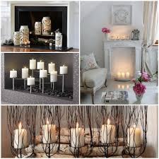 deko kamin romantische stimmung mit kerzen und laternen
