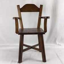 Child/Doll Wooden Chair With Arms, Refinished, 22