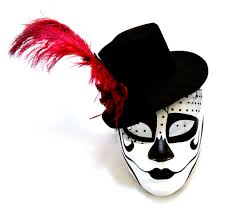 Halloween Half Mask Ideas by Day Of The Dead Cross Half Mask By K B W Global Corp Halloween
