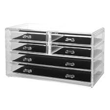 Desk Drawer Organizer Amazon by Amazon Com Deluxe 6 Drawer Jewelry Chest Or Cosmetic Organizer