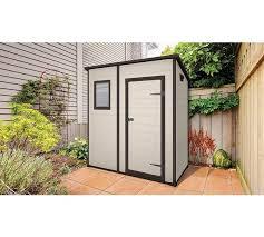 buy keter manor plastic beige brown garden shed 6 x 4ft at
