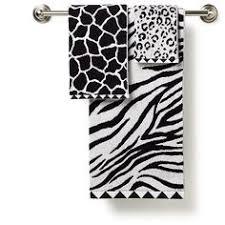 Leopard Print Bathroom Set Walmart by Zebra Print And Solid Towel Collection 0 00 Dodson Renovation