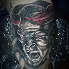 Angel Fighting Demon Tattoo For Men
