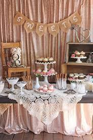 Beautifully Rustic And Romantic Vintage Wedding Dessert Table