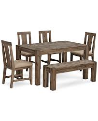 Furniture Canyon Small 6 PcDining Set 60 Dining Table 4 Side