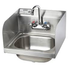 hs 26l 16 wall mount gooseneck faucet hand sink nsf