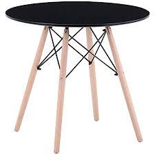 goldfan esstisch rund aus holz moderner küchentisch schwarz 80cm klein tisch für wohnzimmer esszimmer büro