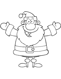 Click To See Printable Version Of Happy Santa Claus With Open Arms For Hugging Coloring Page