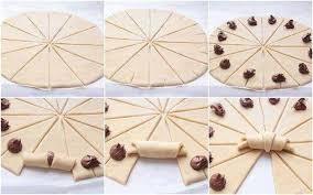recette croissants au nutella pas chère et express cuisine étudiant