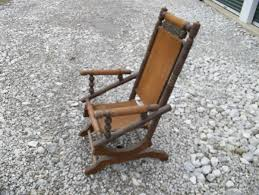 Antique Vintage Pedestal Platform Rocking Chair Spindle ...