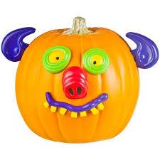 Pumpkin Push Ins by Goofy Faces Pumpkin Push In Kit Gemmy Animals Faces Halloween
