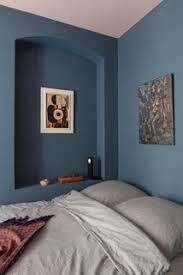 75 skandinavische schlafzimmer mit blauer wandfarbe ideen