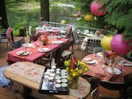 Backyard Party Ideas Near The Beauty Lake Incredible Design