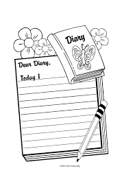 Girls Favorite Things Printable Coloring Pages