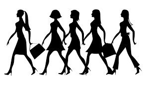 ladies shopping free clipart 26