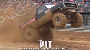 MUD TRUCKS BOMB THE PIT At VIRGINIA MOTOR SPEEDWAY - YouTube