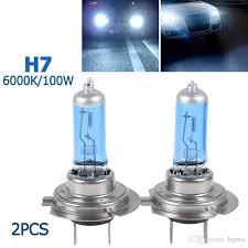 2018 of h7 100w white 6000k xenon halogen light bulb l