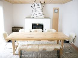 DIY Dining Table With Bench