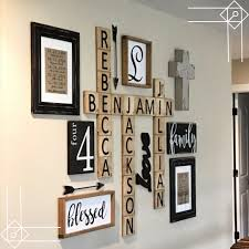 Scrabble Wall Art DIY Idea