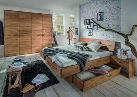 schlafzimmmer set schrank 4türig bett 180x200 wildeiche massiv geölt casade mobila