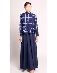 peplum top with long skirt navy u2013 bazaar 22