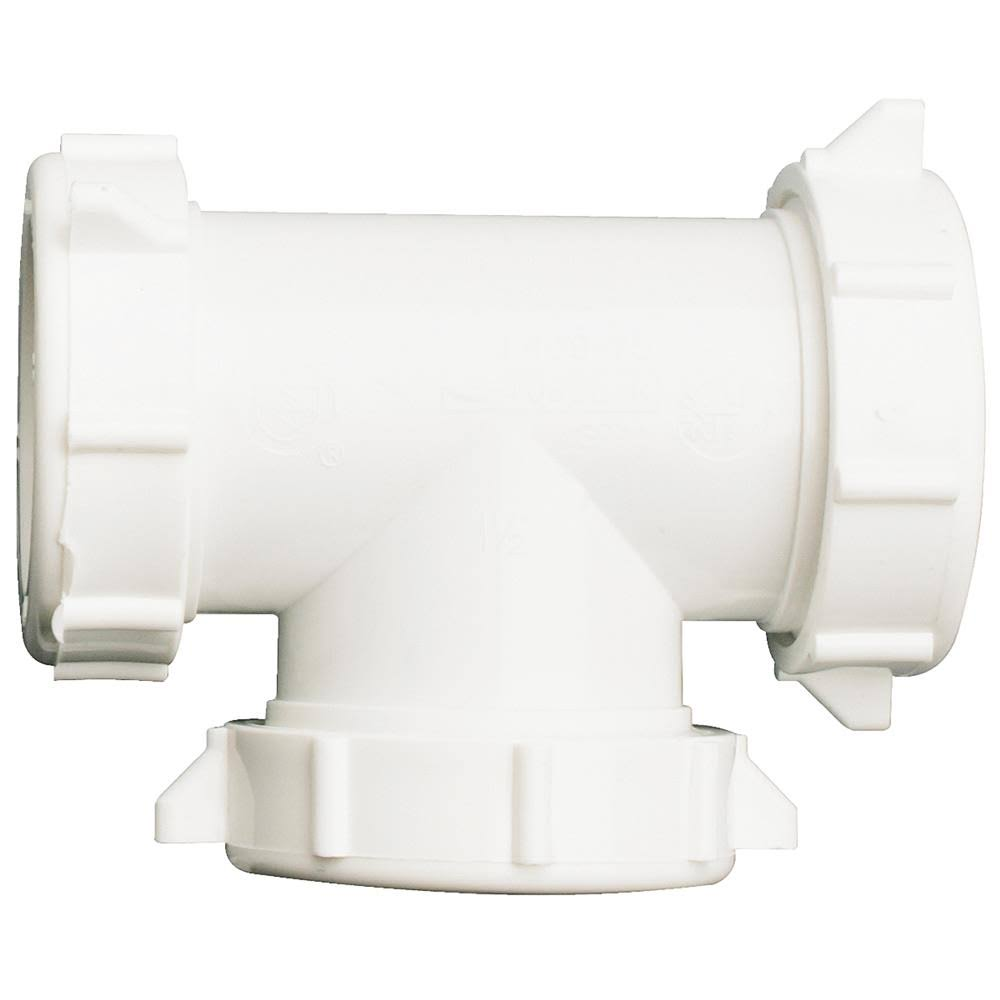 Do it Plastic Slip Joint Coupling Tee - 3 Way, 1 1/2""