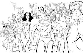 Image Of Superhero Coloring Pages For Kids