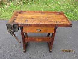 Rustic Antique Workbench Great Patina