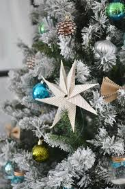 Flocked Downswept Christmas Trees by White Flocked Christmas Tree Christmas Lights Decoration