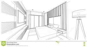 innenarchitektur schlafzimmer stock abbildung