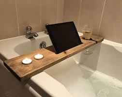 Bamboo Bath Caddy Uk by Bath Accessories Etsy Uk