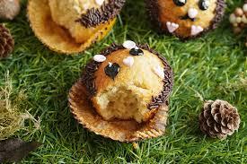 igel muffins backen mit kindern sallys