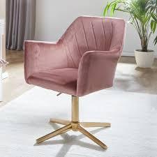 design drehstuhl rosa samt drehbar ohne rollen küchenstuhl mit armlehne bequemer schalenstuhl esszimmer esszimmerstuhl mit lehne möbel und