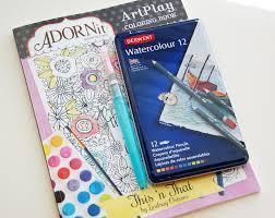 Roree Rumph Adornit Artplay Coloring Book Watercolor Card Step1