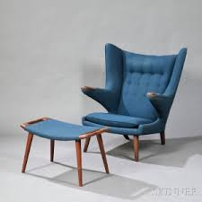 Hans Wegner Papa Bear Chair Leather by Search All Lots Skinner Auctioneers