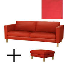 Ektorp Sofa Bed Cover Red ikea karlstad sofa bed and footstool slipcovers sofabed ottoman