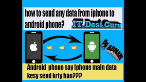 How to send data from Android phone to Iphone hindi urdu videos