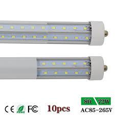 cnsunway lighting fa8 v shaped t8 single pin 8ft led lights