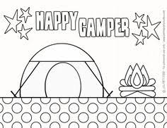 Free Printable Camping Coloring Page By Petite Party Studio