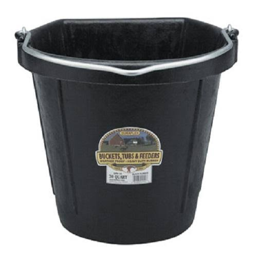 Flat-Back Rubber Bucket 5gal