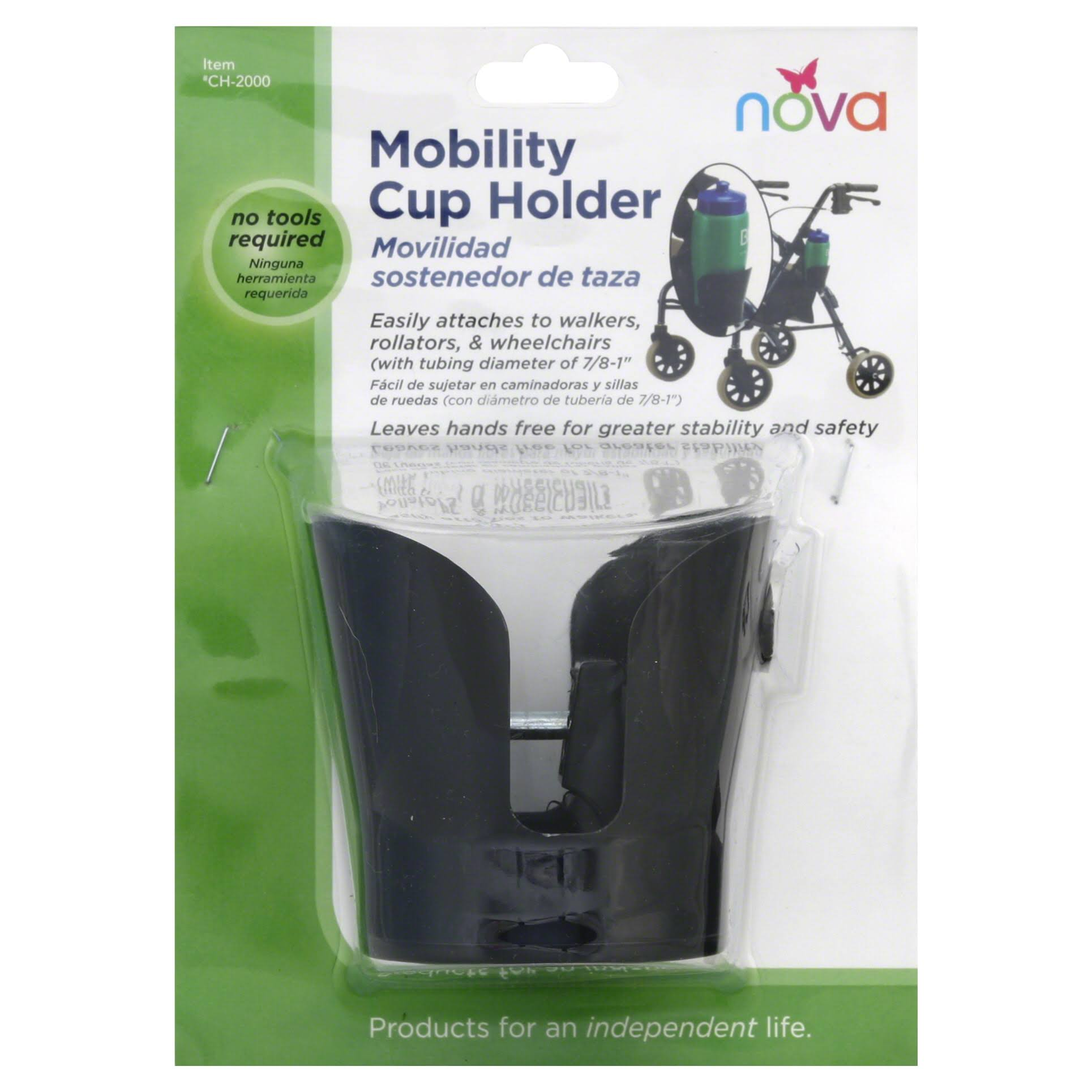 Nova Medical Products Mobility Cup Holder - 1 Pound, Black