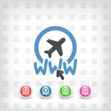 Website Travel Agency Icon Royalty Free Vector Clip Art