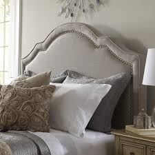 White King Headboard Upholstered by Shaped Nail Head Upholstered Headboard You U0027ll Love The Simple