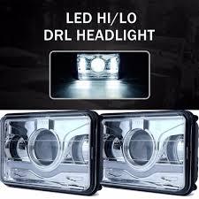 2 Pcs 4X6 Inch LED Rectangular Headlights 12V 24V For Trucks , LED ... Volkswagen Amarok Bi Xenon Headlights Led Ultimate Left Right Vw Oem For Land Cruiser Fj40 Fj55 Minitruck Set Of 2 5x7 Auto Drl Led Headlamp Inch Truck Headlight 6x7 High Lite Ece 27291c Trucklite 6 Brightest Bulbs 2018 Bestheadlightbulbscom Oracle 0205 Dodge Ram Colorshift Halo Rings Amazoncom H7 2in1 Bulb Kit Xkchrome Smartphone App 1215 Toyota Tacoma Hid Retrofit 661977 Ford Bronco Projector Headlightsbrongraveyardcom Recon Bar Fxible White Tube With And Amber Leds Custom